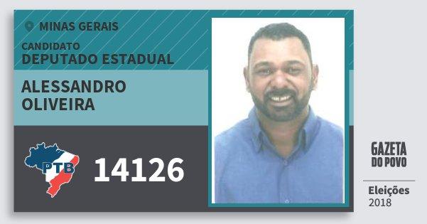 Santinho Alessandro Oliveira 14126 (PTB) Deputado Estadual | Minas Gerais | Eleições 2018