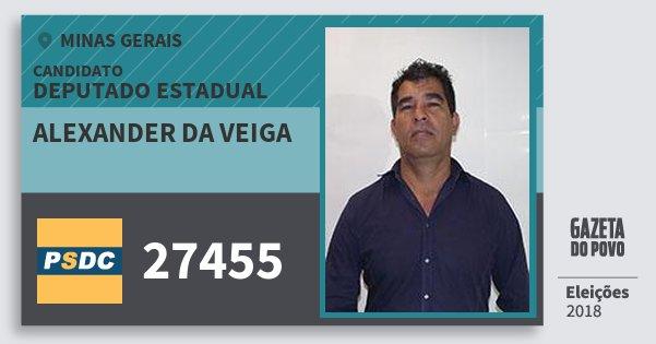 Santinho Alexander da Veiga 27455 (DC) Deputado Estadual | Minas Gerais | Eleições 2018