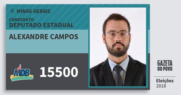 Santinho Alexandre Campos 15500 (MDB) Deputado Estadual | Minas Gerais | Eleições 2018