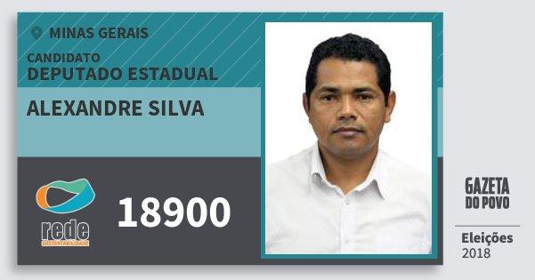 Santinho Alexandre Silva 18900 (REDE) Deputado Estadual | Minas Gerais | Eleições 2018