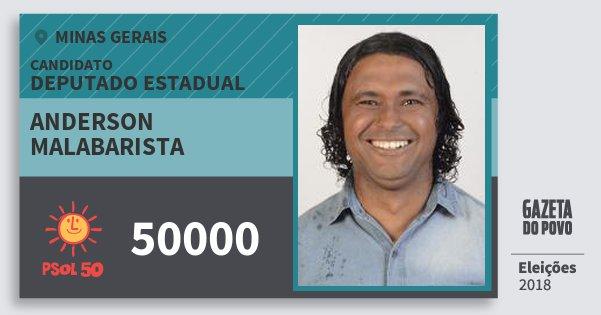 Santinho Anderson Malabarista 50000 (PSOL) Deputado Estadual | Minas Gerais | Eleições 2018