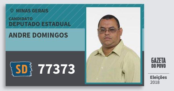 Santinho Andre Domingos 77373 (SOLIDARIEDADE) Deputado Estadual | Minas Gerais | Eleições 2018