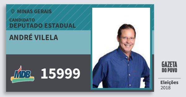 Santinho André Vilela 15999 (MDB) Deputado Estadual | Minas Gerais | Eleições 2018