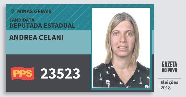 Santinho Andrea Celani 23523 (PPS) Deputada Estadual | Minas Gerais | Eleições 2018
