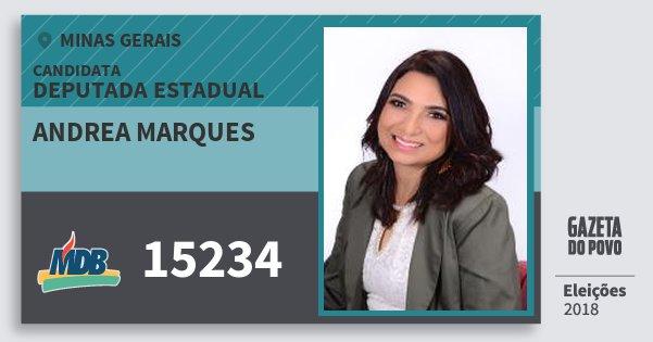 Santinho Andrea Marques 15234 (MDB) Deputada Estadual   Minas Gerais   Eleições 2018