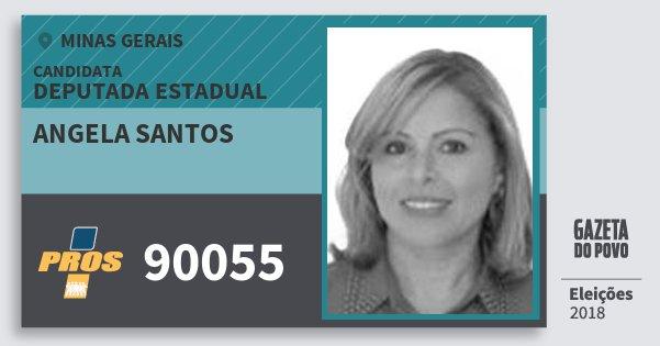 Santinho Angela Santos 90055 (PROS) Deputada Estadual | Minas Gerais | Eleições 2018