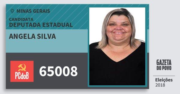 Santinho Angela Silva 65008 (PC do B) Deputada Estadual | Minas Gerais | Eleições 2018