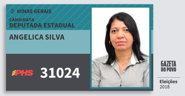 Santinho Angelica Silva 31024 (PHS) Deputada Estadual | Minas Gerais | Eleições 2018