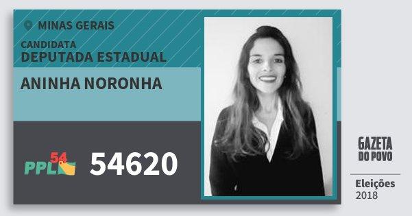 Santinho Aninha Noronha 54620 (PPL) Deputada Estadual | Minas Gerais | Eleições 2018