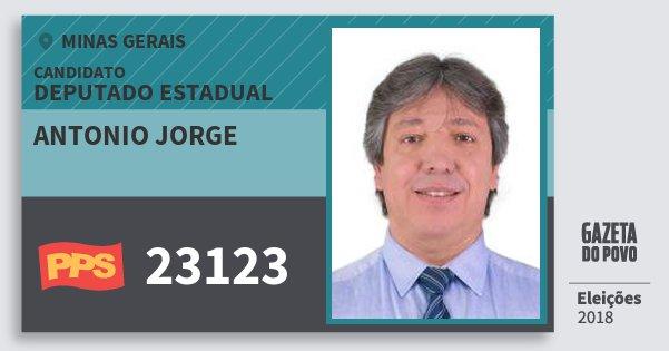 Santinho Antonio Jorge 23123 (PPS) Deputado Estadual | Minas Gerais | Eleições 2018