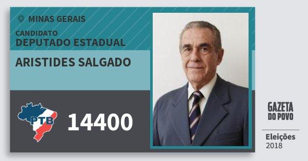 Santinho Aristides Salgado 14400 (PTB) Deputado Estadual | Minas Gerais | Eleições 2018