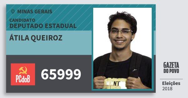 Santinho Átila Queiroz 65999 (PC do B) Deputado Estadual | Minas Gerais | Eleições 2018