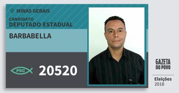 Santinho Barbabella 20520 (PSC) Deputado Estadual | Minas Gerais | Eleições 2018