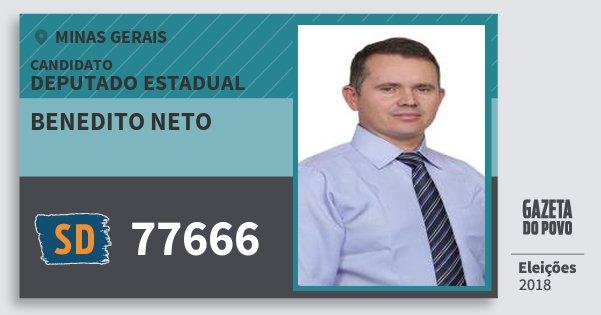 Santinho Benedito Neto 77666 (SOLIDARIEDADE) Deputado Estadual | Minas Gerais | Eleições 2018