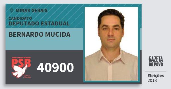 Santinho Bernardo Mucida 40900 (PSB) Deputado Estadual | Minas Gerais | Eleições 2018