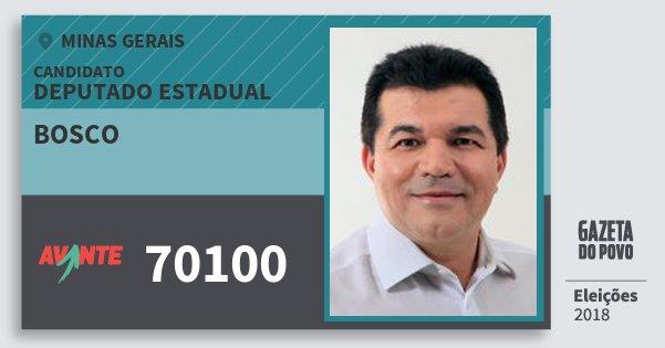 Santinho Bosco 70100 (AVANTE) Deputado Estadual | Minas Gerais | Eleições 2018