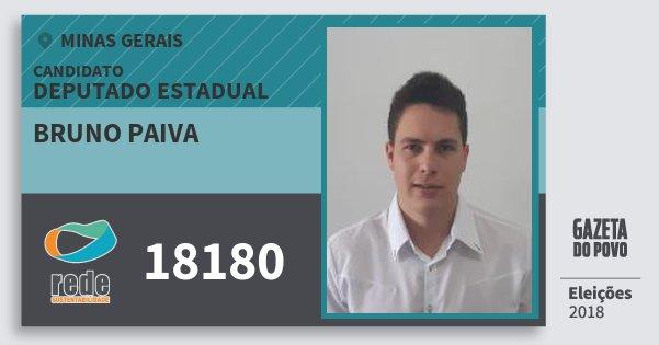 Santinho Bruno Paiva 18180 (REDE) Deputado Estadual | Minas Gerais | Eleições 2018