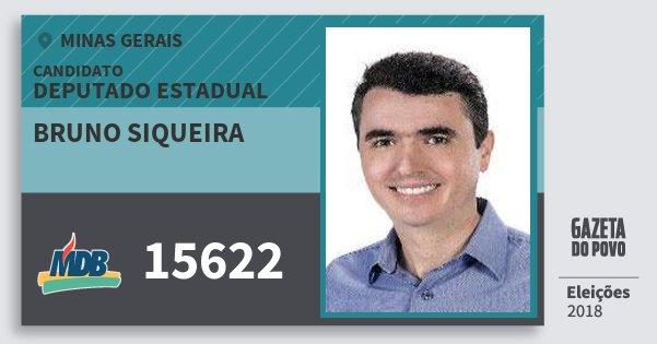 Santinho Bruno Siqueira 15622 (MDB) Deputado Estadual | Minas Gerais | Eleições 2018
