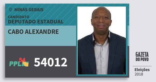 Santinho Cabo Alexandre 54012 (PPL) Deputado Estadual | Minas Gerais | Eleições 2018