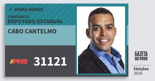 Santinho Cabo Cantelmo 31121 (PHS) Deputado Estadual | Minas Gerais | Eleições 2018