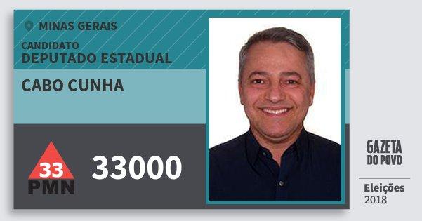 Santinho Cabo Cunha 33000 (PMN) Deputado Estadual | Minas Gerais | Eleições 2018