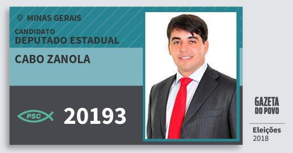 Santinho Cabo Zanola 20193 (PSC) Deputado Estadual   Minas Gerais   Eleições 2018