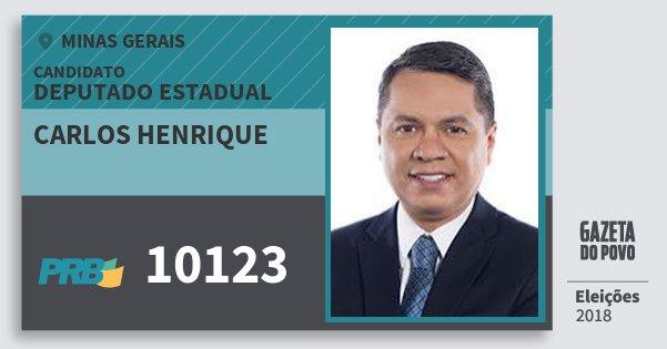 Santinho Carlos Henrique 10123 (PRB) Deputado Estadual | Minas Gerais | Eleições 2018