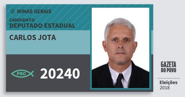 Santinho Carlos Jota 20240 (PSC) Deputado Estadual | Minas Gerais | Eleições 2018