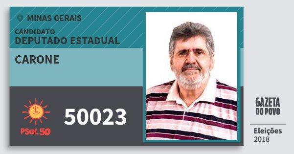 Santinho Carone 50023 (PSOL) Deputado Estadual | Minas Gerais | Eleições 2018
