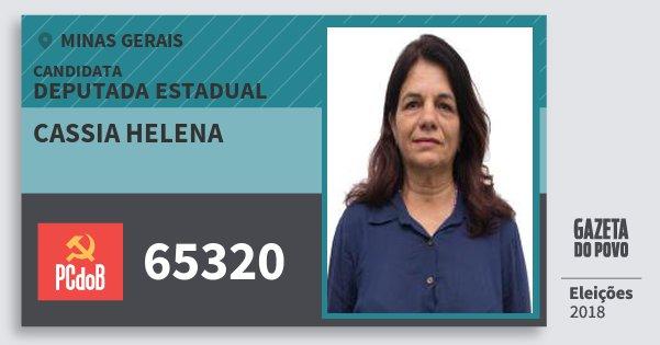 Santinho Cassia Helena 65320 (PC do B) Deputada Estadual | Minas Gerais | Eleições 2018