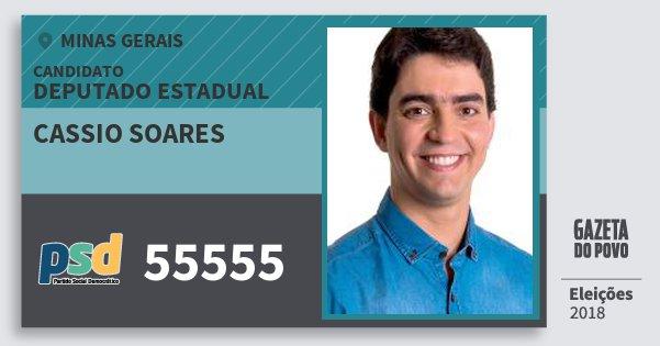 Santinho Cassio Soares 55555 (PSD) Deputado Estadual | Minas Gerais | Eleições 2018