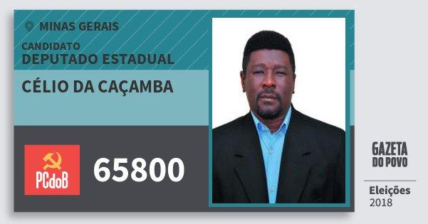 Santinho Célio da Caçamba 65800 (PC do B) Deputado Estadual | Minas Gerais | Eleições 2018