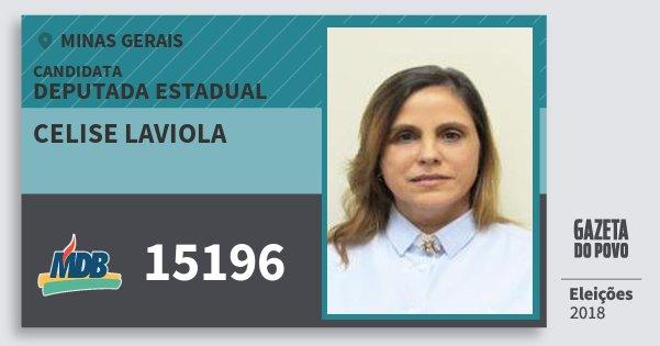 Santinho Celise Laviola 15196 (MDB) Deputada Estadual | Minas Gerais | Eleições 2018