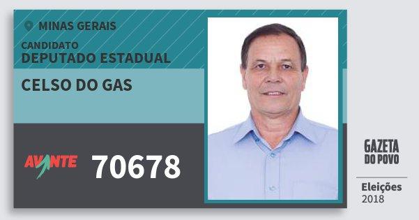 Santinho Celso do Gas 70678 (AVANTE) Deputado Estadual | Minas Gerais | Eleições 2018