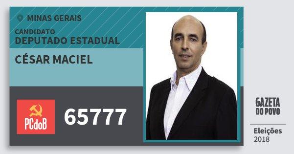 Santinho César Maciel 65777 (PC do B) Deputado Estadual | Minas Gerais | Eleições 2018
