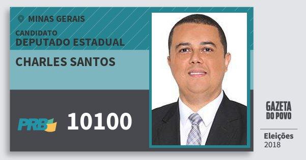 Santinho Charles Santos 10100 (PRB) Deputado Estadual | Minas Gerais | Eleições 2018