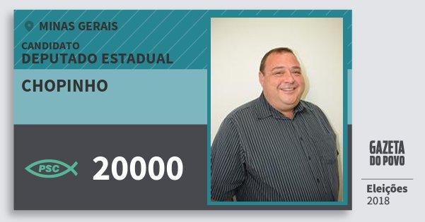 Santinho Chopinho 20000 (PSC) Deputado Estadual | Minas Gerais | Eleições 2018