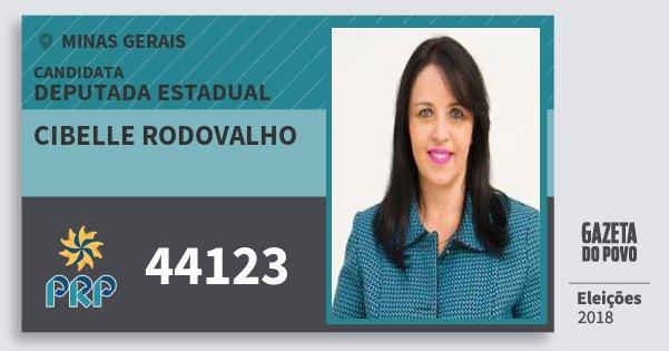 Santinho Cibelle Rodovalho 44123 (PRP) Deputada Estadual | Minas Gerais | Eleições 2018