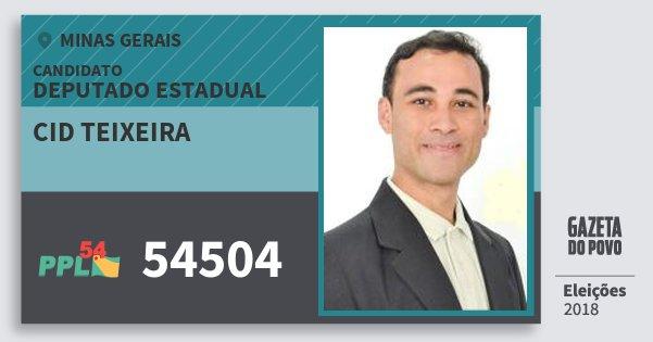 Santinho Cid Teixeira 54504 (PPL) Deputado Estadual | Minas Gerais | Eleições 2018