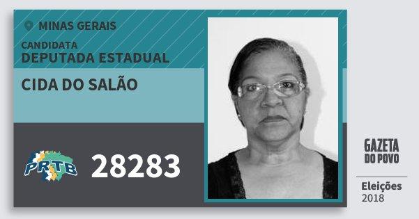 Santinho Cida do Salão 28283 (PRTB) Deputada Estadual | Minas Gerais | Eleições 2018