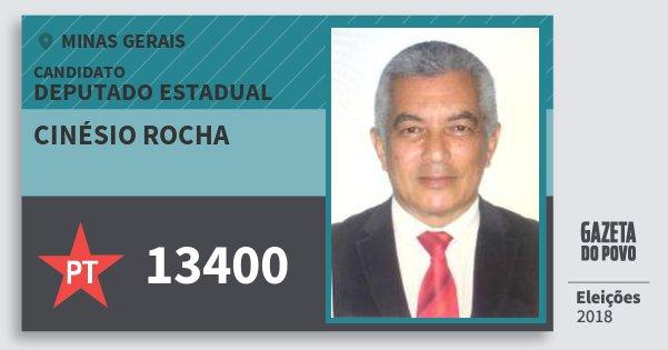 Santinho Cinésio Rocha 13400 (PT) Deputado Estadual | Minas Gerais | Eleições 2018