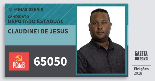 Santinho Claudinei de Jesus 65050 (PC do B) Deputado Estadual | Minas Gerais | Eleições 2018