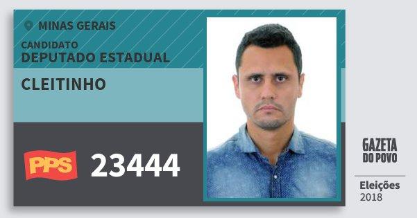 Santinho Cleitinho 23444 (PPS) Deputado Estadual | Minas Gerais | Eleições 2018