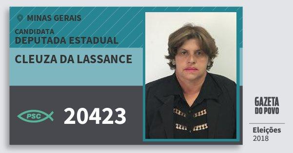 Santinho Cleuza da Lassance 20423 (PSC) Deputada Estadual | Minas Gerais | Eleições 2018