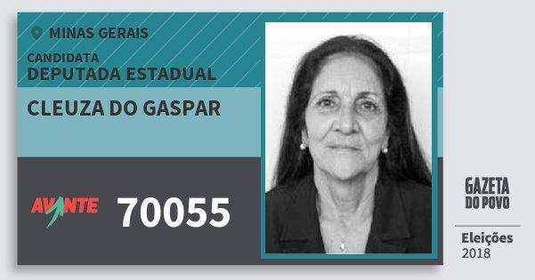 Santinho Cleuza do Gaspar 70055 (AVANTE) Deputada Estadual | Minas Gerais | Eleições 2018