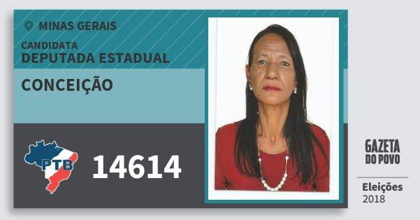 Santinho Conceição 14614 (PTB) Deputada Estadual | Minas Gerais | Eleições 2018