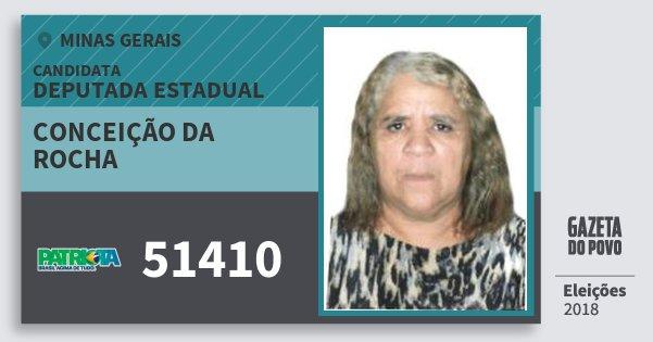 Santinho Conceição da Rocha 51410 (PATRI) Deputada Estadual | Minas Gerais | Eleições 2018