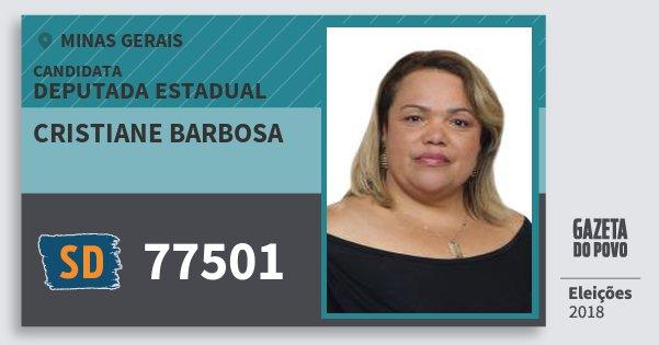 Santinho Cristiane Barbosa 77501 (SOLIDARIEDADE) Deputada Estadual | Minas Gerais | Eleições 2018
