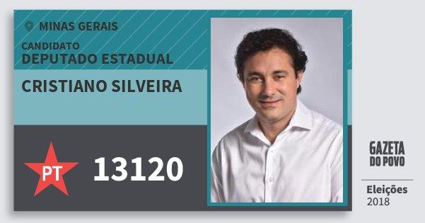 Santinho Cristiano Silveira 13120 (PT) Deputado Estadual | Minas Gerais | Eleições 2018