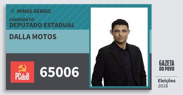 Santinho dalla Motos 65006 (PC do B) Deputado Estadual | Minas Gerais | Eleições 2018